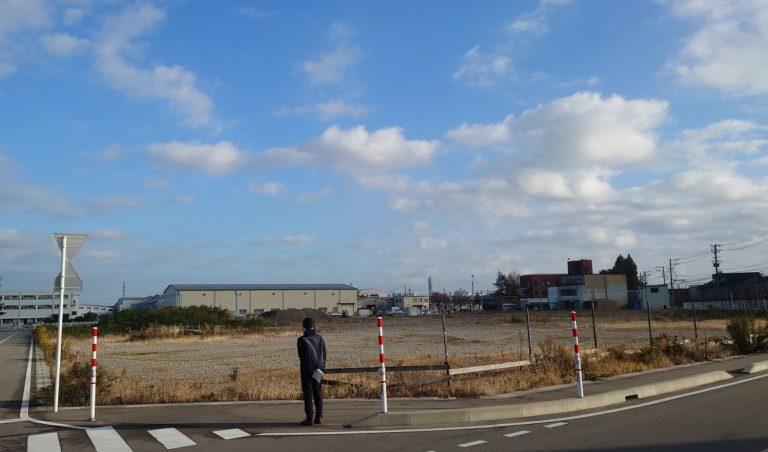 旧富山紡績工場跡地を眺めて