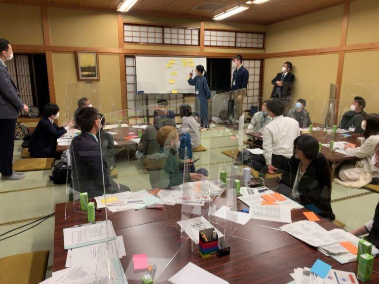 南砺市公共施設再編会議の様子