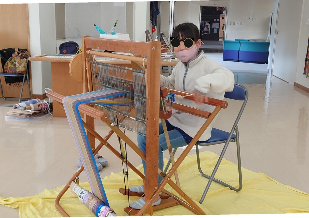 福光美術館でさをり織り体験してきました。