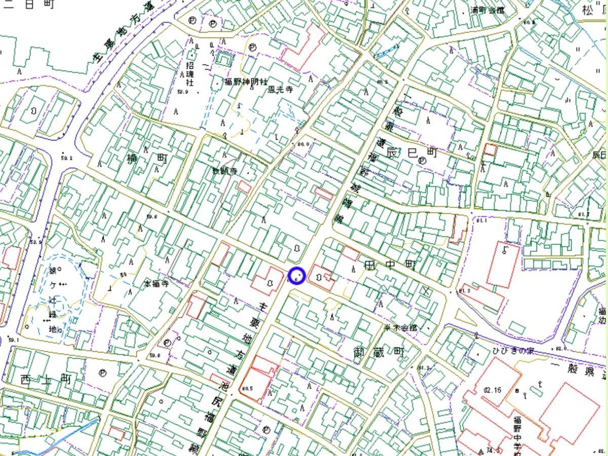 福野の街中の地図