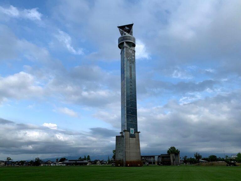 クロスランドタワーの寄り写真