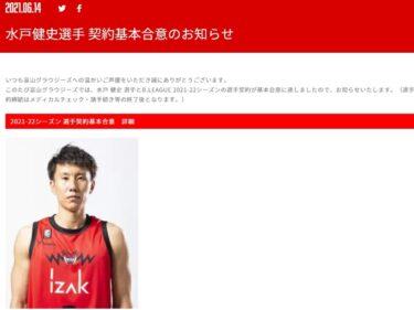 【朗報】水戸健史選手(福野出身)来期もグラウジーズでプレーするよ!!