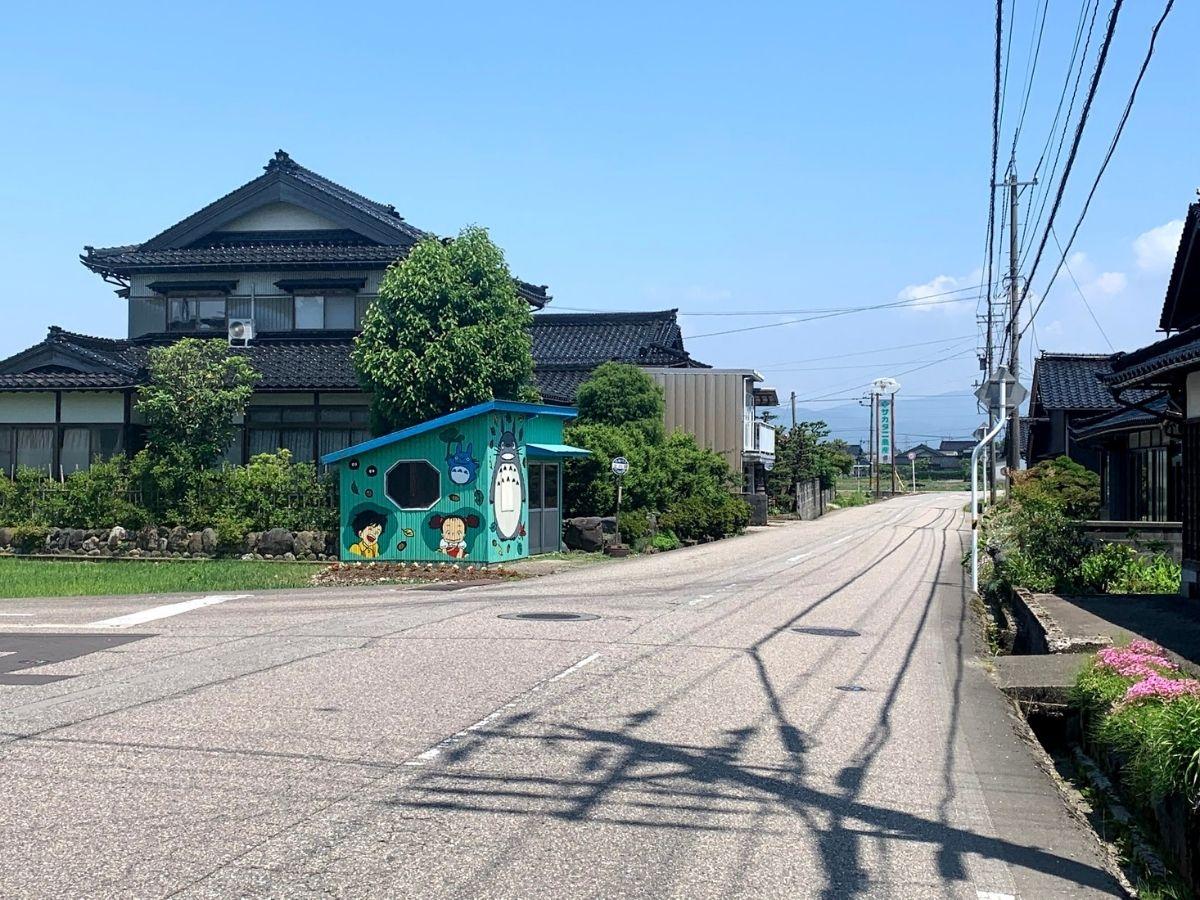 上川崎のバス停の位置