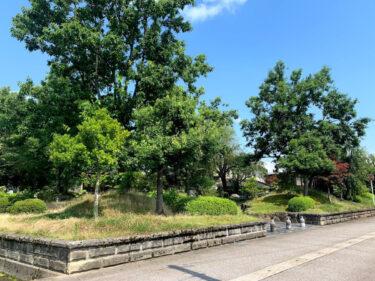 通称・水公園、正式には「南砺市やかた二号公園」らしい