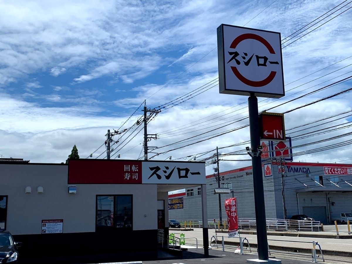 オープン前のスシロー砺波店の外観