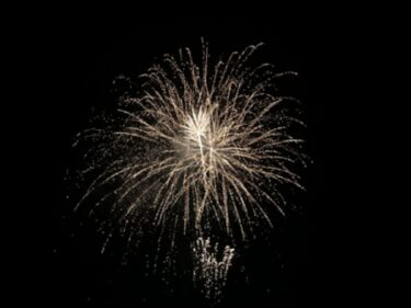 【速報】さっき鳴ってた花火は福野のユカタデダンス!写真を撮ってきた