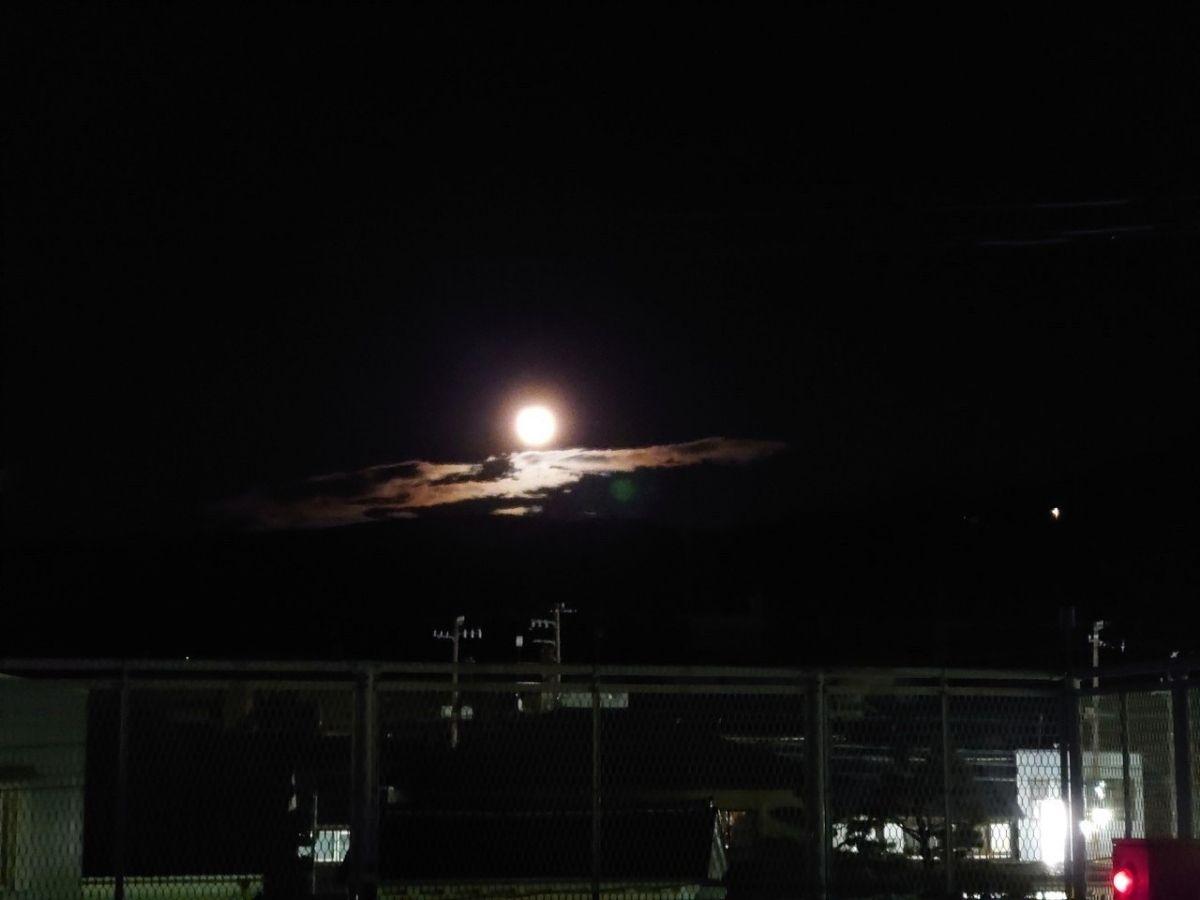 井波からみた中秋の名月
